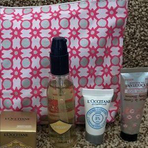 🐝L'Occitane Cosmetic Case with Mini Samples